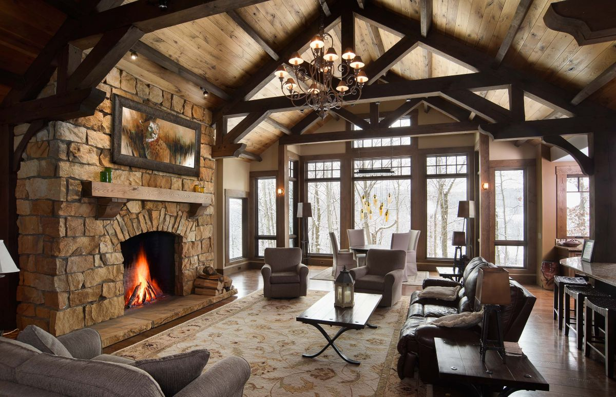 Rustic Timber Frame Home Photography